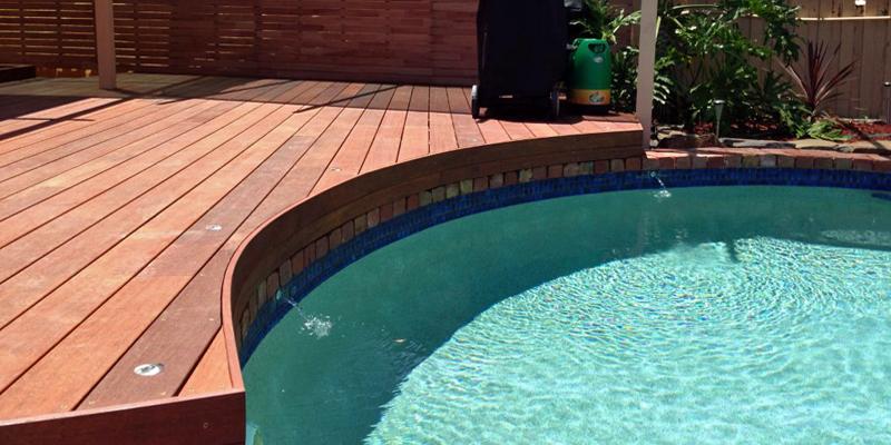 Deckmates decking melbourne for Timber decking around pools